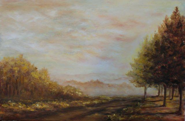 """""""Camino de Sueños"""" Óleo - 40 x 60cm."""